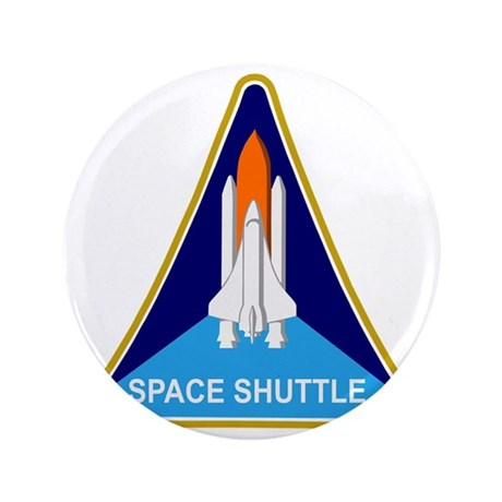 "Space Shuttle Shield 3.5"" Button"