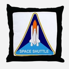Space Shuttle Shield Throw Pillow