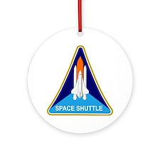 Space Shuttle Shield Round Ornament