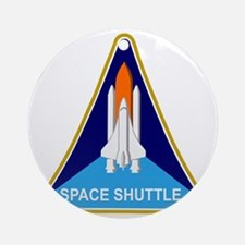 Space Shuttle Shield Round Ornament