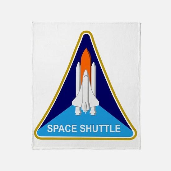 Space Shuttle Shield Throw Blanket