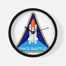 Space Shuttle Shield Wall Clock