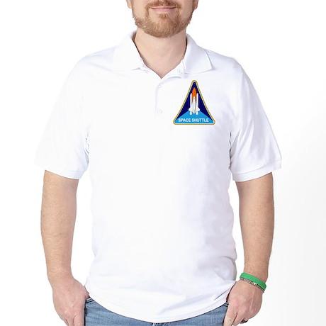 Space Shuttle Shield Golf Shirt