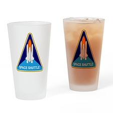 Space Shuttle Shield Drinking Glass