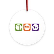 Eat Sleep Ridgeback Ornament (Round)