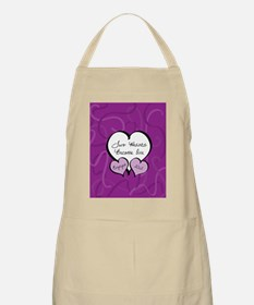 Purple Two Hearts Engaged 2012 Apron