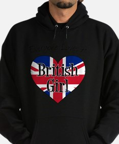 Everyone Loves British Girl Hoodie (dark)