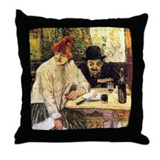 Toulouse-Lautrec A la Mie in the Rest Throw Pillow