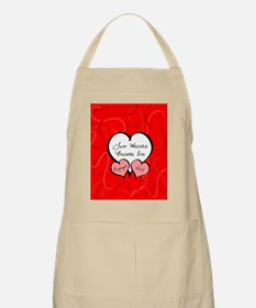 Red Two Hearts Engaged 2012 Apron