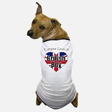 Everyone Loves British Boy Dog T-Shirt