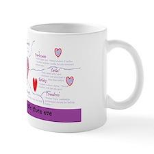 Oxytocin Heart Puzzle Mug
