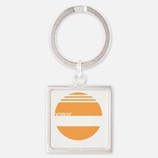Detroit Express Square Keychain