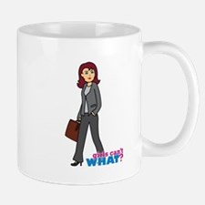 Business Woman in Grey Mug
