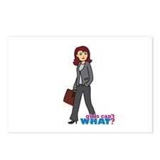 Business Woman in Grey Postcards (Package of 8)