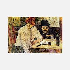 Toulouse-Lautrec A la Mie in the  Rectangle Magnet
