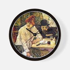 Toulouse-Lautrec A la Mie in the Restau Wall Clock