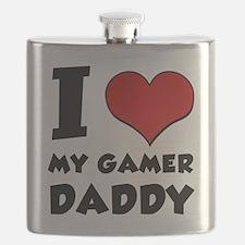 I Love My Gamer Daddy Flask