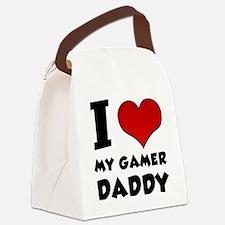 I Love My Gamer Daddy Canvas Lunch Bag