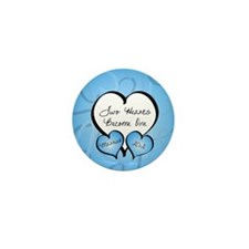 Blue Two Hearts Married 2012 Mini Button