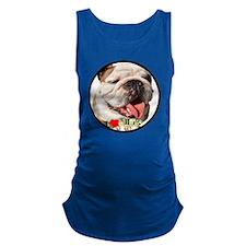 I Love Bulldogs Maternity Tank Top