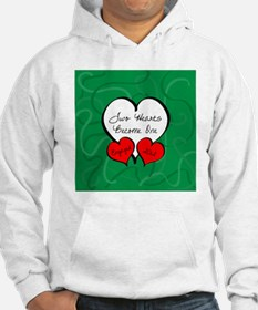 Red Green Two Hearts Engaged 201 Hoodie