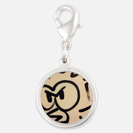 Angry Bird dont play! Silver Round Charm