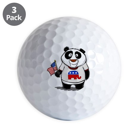 Panda Politics Republican Golf Balls