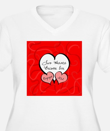Red Two Hearts En T-Shirt