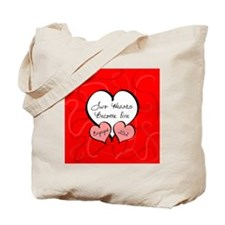 Red Two Hearts Engaged 2012 Tote Bag