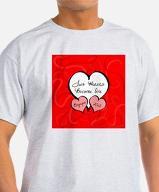 Red Two Hearts Engaged 2012 T-Shirt