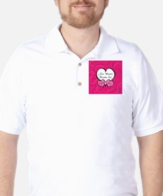 Pink Two Hearts Become One Engaged 2012 T-Shirt