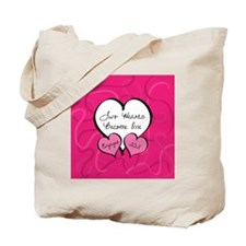 Pink Two Hearts Become One Engaged 2012 Tote Bag