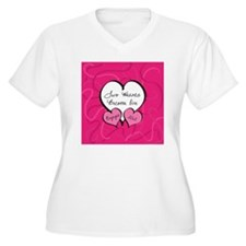 Pink Two Hearts B T-Shirt