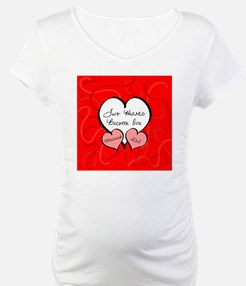 Red Two Hearts Married 2012 Shirt