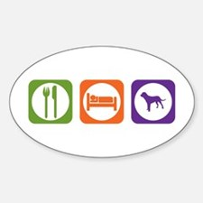 Eat Sleep Tosa Oval Decal