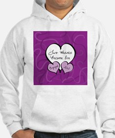 Purple Two Hearts Engaged 2012 Hoodie