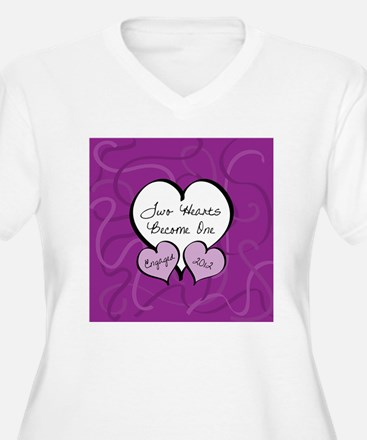 Purple Two Hearts T-Shirt