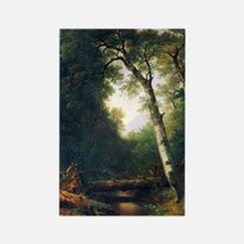 A creek in the woods by Asher Bro Rectangle Magnet
