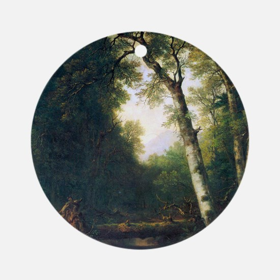 A creek in the woods by Asher Brown Round Ornament