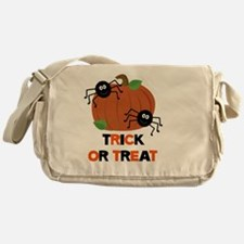 Trick or Treat Spiders with Pumpkin Messenger Bag