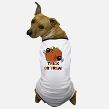 Trick or Treat Spiders with Pumpkin Dog T-Shirt