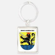 Rose Barracks with Text Portrait Keychain