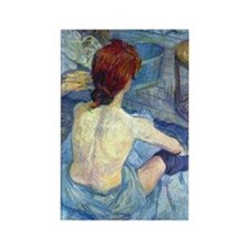 Toulouse-Lautrec Rousse (Toilet) Rectangle Magnet