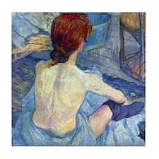 Toulouse-Lautrec Rousse (Toilet) Tile Coaster