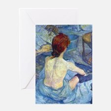 Toulouse-Lautrec Rousse (Toilet) Greeting Card