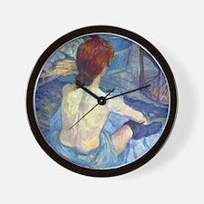 Toulouse-Lautrec Rousse (Toilet) Wall Clock