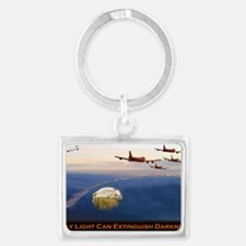 Only Light Can Extinguish Darkn Landscape Keychain