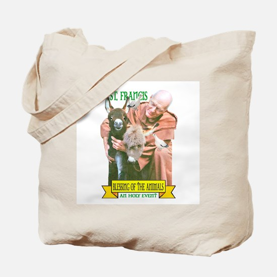 ST. FRANCIS OF ASSISI BLESSES Tote Bag