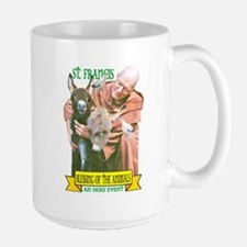 ST. FRANCIS OF ASSISI BLESSES Large Mug