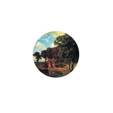 Albert Bierstadt A Rustic Mill Mini Button